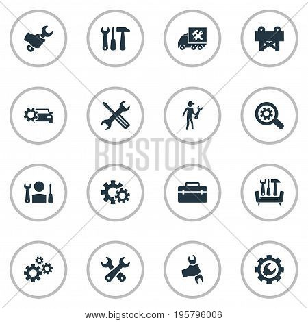 Vector Illustration Set Of Simple Repairing Icons