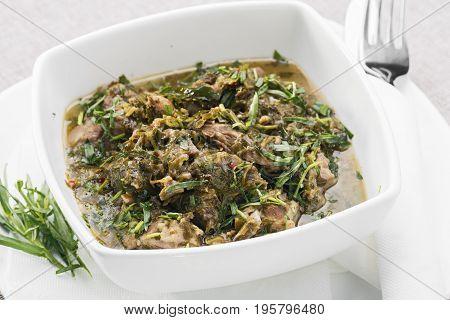 chakapuli is a Georgian dish of lamb