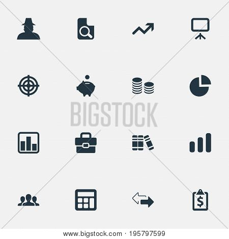 Vector Illustration Set Of Simple Financial Icons