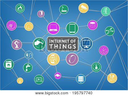 Internet of things flat design vector illustration