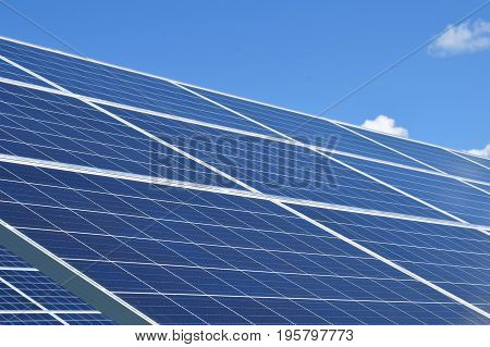 Close up of solar panels with room for text.