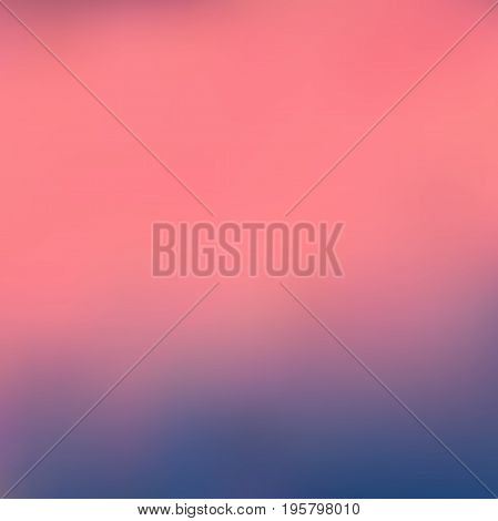 Abstract colorful blurred vector background. Element for your website or presentation. Blue and pink color.