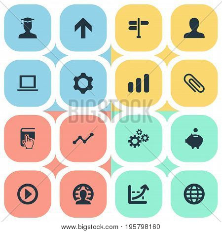 Vector Illustration Set Of Simple Teamwork Icons