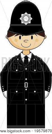 Uk Policeman Classic Hat.eps
