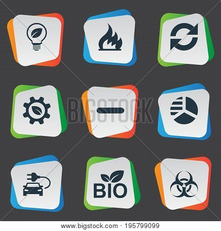 Vector Illustration Set Of Simple Ecology Icons