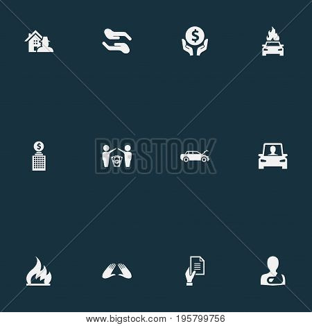 Vector Illustration Set Of Simple Guarantee Icons