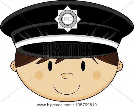 Cute Policemans Head.eps
