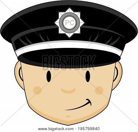 Mini Policeman Head.eps