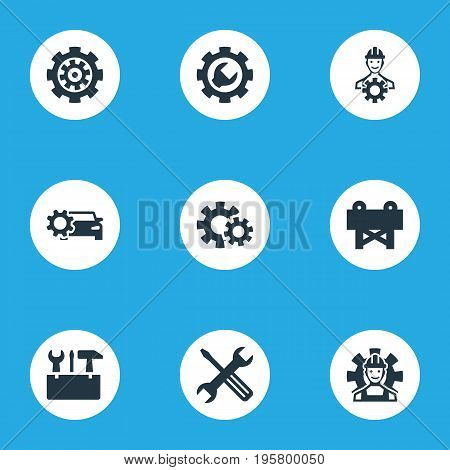 Vector Illustration Set Of Simple Mending Icons