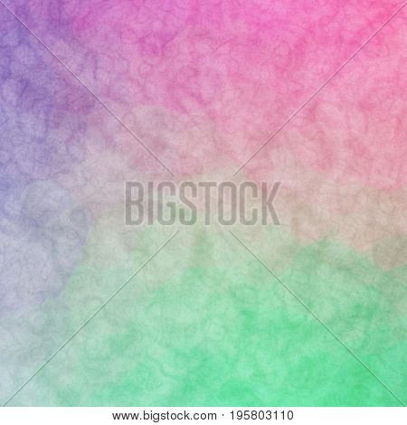 Interesting Uneven Colorful Background Texture With Green Pink Blue Colors Blend