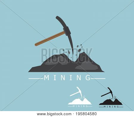 set of mining logo icon concept vector illustration