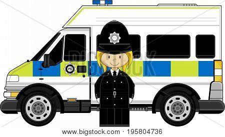 Mini Policewoman & Van