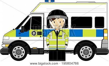 Riot Policeman & Van