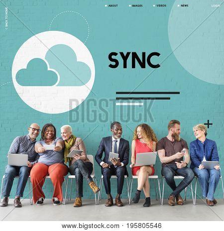 Cloud Computing Data Icon Sign
