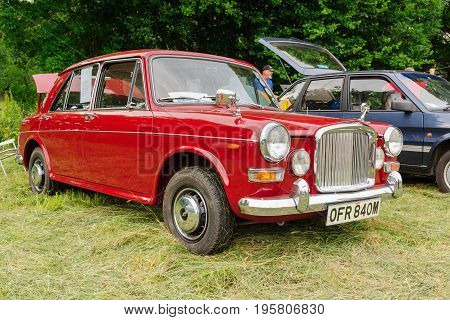 Llangollen Wales UK - July 1 2017: Austin Vanden Plas 1300 Princess a classic British four door saloon car built from 1963 to 1974 at a vintage vehicle rally