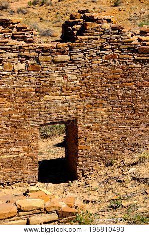 Great house Chetro Ketl at Chaco Canyon.