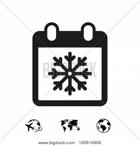 winter calendar icon stock vector illustration flat design