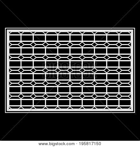 Solar Panel White Color Path  Icon .