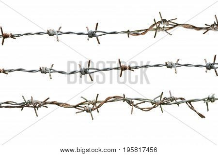 barbed wire on white The clip art is a white background for easy use.