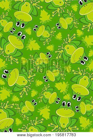 Cute Frog Pattern.eps