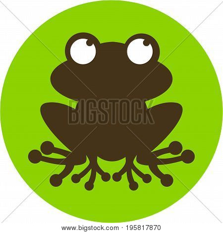 Vector Illustration of a Simple Frog in Silhouette