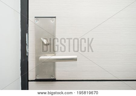 Stainless Steel Door Handle In Hotel