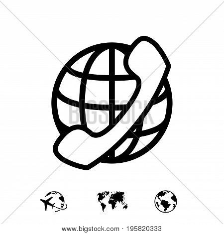 international call icon stock vector illustration flat design