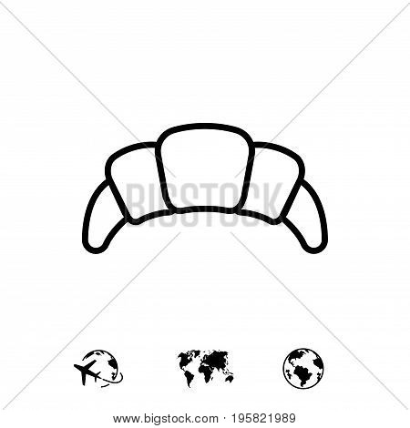 croissant icon stock vector illustration flat design