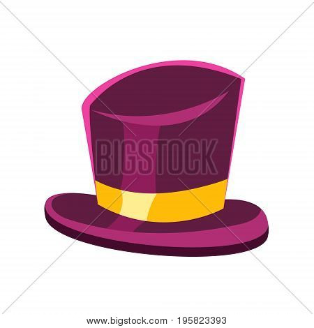 Purple gentleman hat vector Illustration on a white background