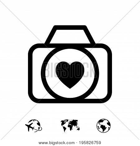 wedding photo icon stock vector illustration flat design