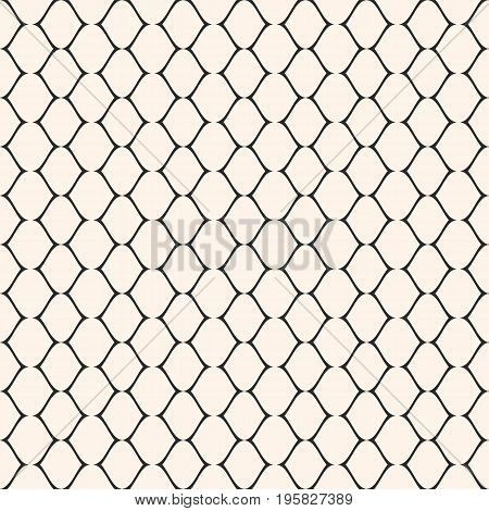 Lace pattern. Subtle mesh texture. Vector seamless pattern. Simple illustration of delicate lattice, lace, fishnet. Abstract geometric monochrome repeat background. Elegant design for prints, decor, wrapping, cloth. Lace background. Abstract seamless patt