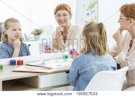 Speech Therapist And Little Girl