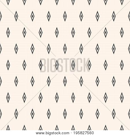 Argyle vector seamless pattern, simple geometric texture with small rhombuses. Abstract monochrome minimalist background, repeat geometrical tiles. Stylish design for decor, cloth, textile, furniture. Diamond pattern. Triangle pattern.