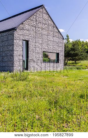 Modern House In The Meadow