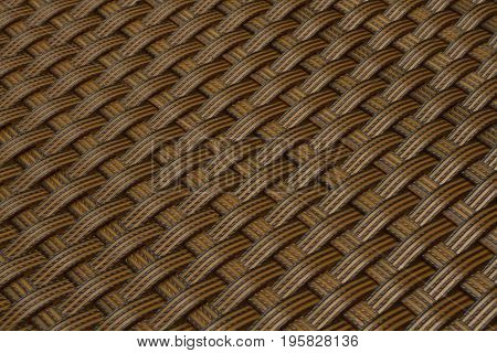 wicker texture as light brown plastic background