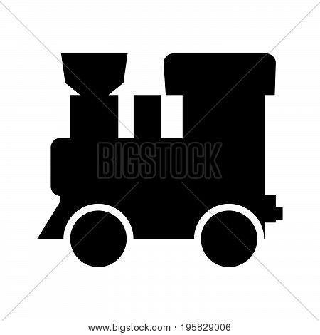 Steam Locomotive - Train Black Color Icon .