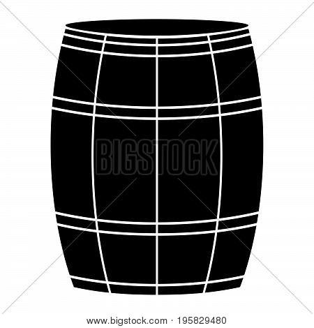 Wine Or Beer Barrels Black Color Icon .