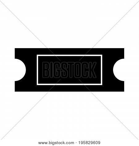 Ticket Black Color Icon .