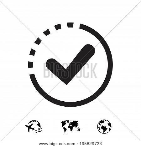check icon vector illustration. Flat design style