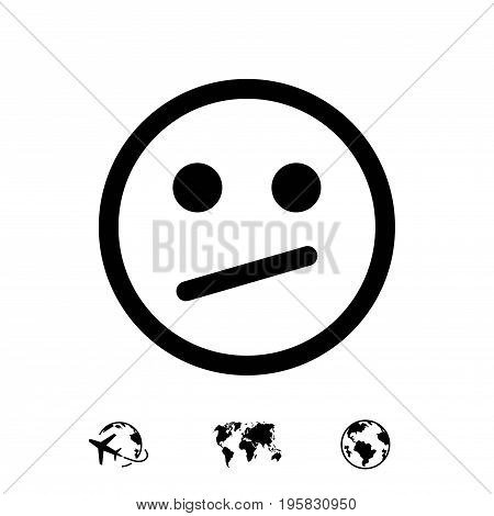 Smile icon stock vector illustration flat design