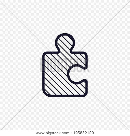 Puzzle game line icon. Jigsaw piece thin linear signs. Outline solution simple concept for websites, infographic, mobile applications.