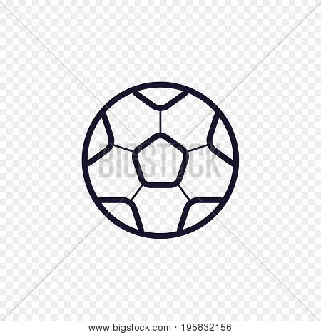Soccer ball simple line icon. Football game thin linear signs. Outline sport championship concept for websites, infographic, mobile app.