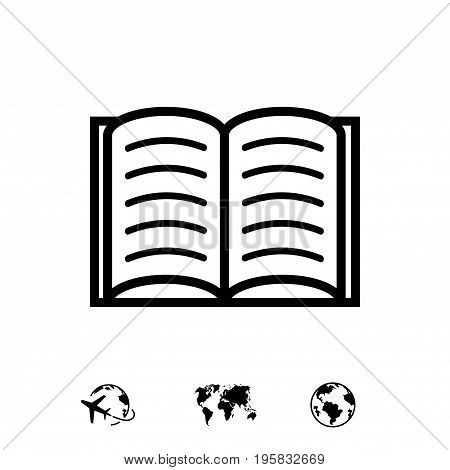 open book icon stock vector illustration flat design
