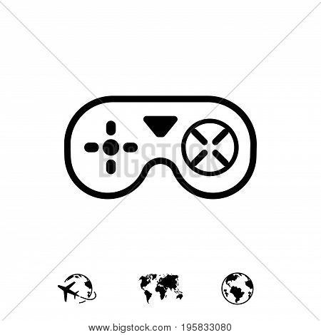 joystick icon stock vector illustration flat design