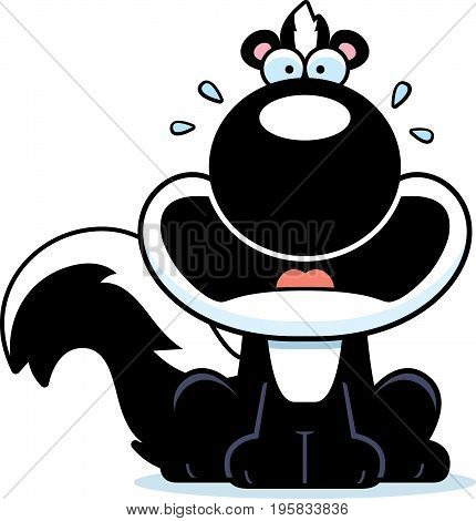 Scared Cartoon Skunk