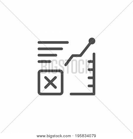 Freight transportation line icon isolated on white. Vector illustration