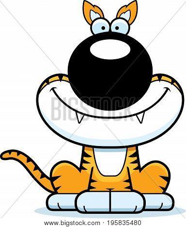 Smiling Cartoon Tasmanian Tiger