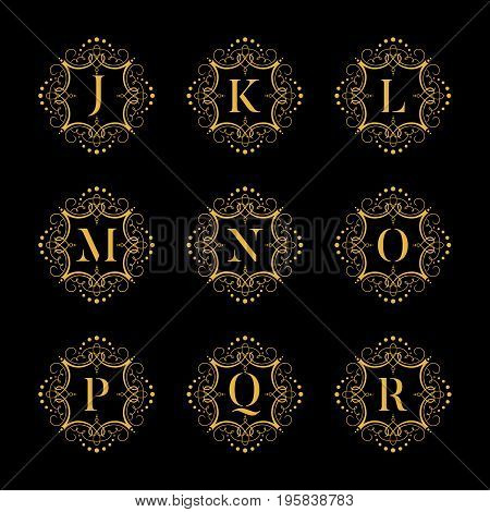 Set luxury vector alphabet. Letters alphabet with floral. Classic vector logo alphabet. Luxury Font. Alphabet Letters. Vector illustration, eps8. eps10