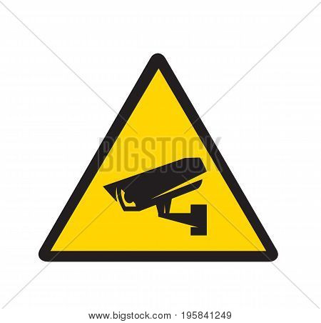 Video surveillance, CCTV camera icon. Security camera. Vector stock.