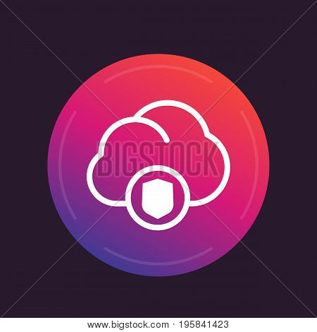 secure cloud vector icon, eps 10 file, easy to edit